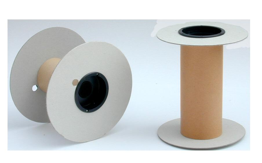 Flange e tubo in cartone, capsule in polistirolo antiurto.Portata fino a kg. 30.
