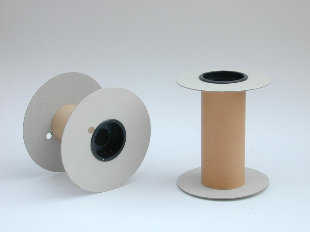 Valonas y tubo de cartón, cápsulas de poliestireno antichoque