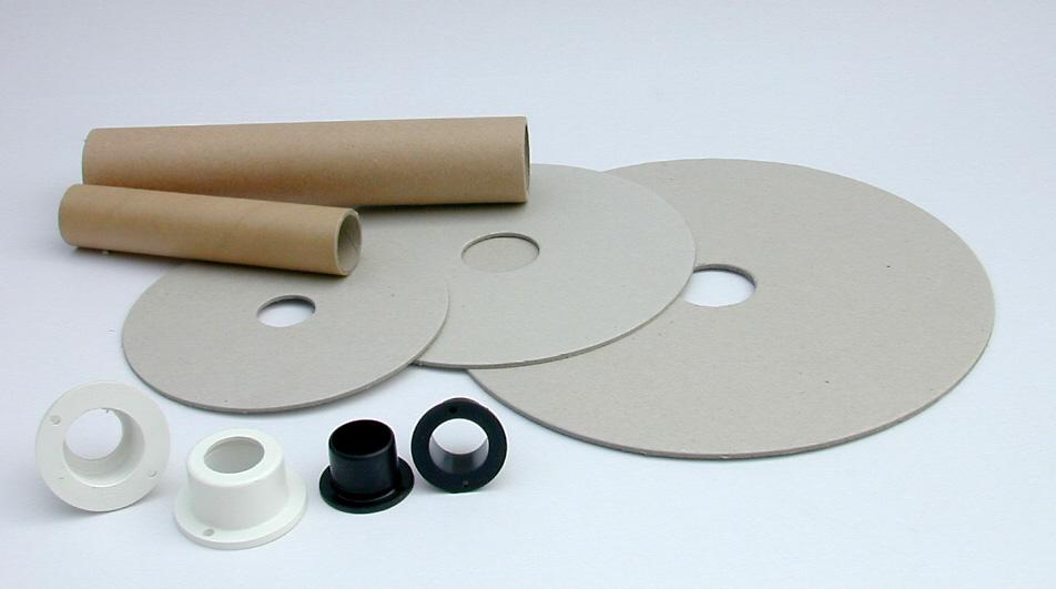 Valona y tubo de cartón, cápsulas de poliestireno antichoque.