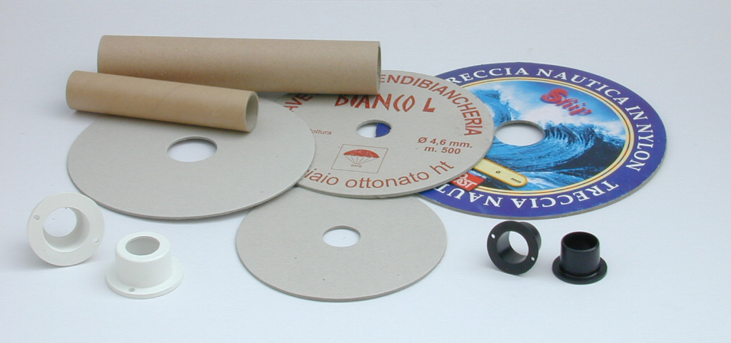 Flangia e tubo in cartone, capsule in polistirolo antiurto